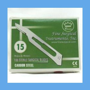 Carbon Steel Sterile Surgical Blades #15 blades, sterile, surgical, carbon steel, quality, value