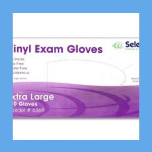 McKesson Vinyl Exam Gloves, Powder Free Non-Sterile, EXTRA LARGE, #14-120 gloves, vinyl, powder-free, Select