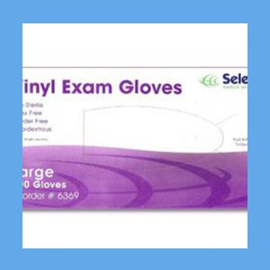 McKesson Vinyl Exam Gloves, Powder Free Non-Sterile,         LARGE, #14-118 gloves, vinyl, powder-free, Select