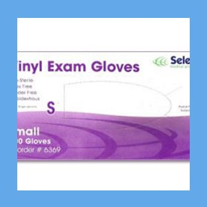 McKesson Vinyl Exam Gloves, Powder Free Non-Sterile, SMALL, #14-114 gloves, vinyl, powder-free, Select
