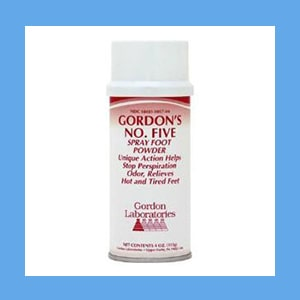 Gordon's #5 Spray Foot Powder spray foot powder, Gordon's #5, soothes feet, pleasant scent