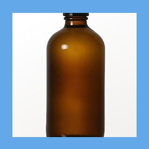 Amber Phenol Bottle 8 oz. phenol bottle, amber, tight seal