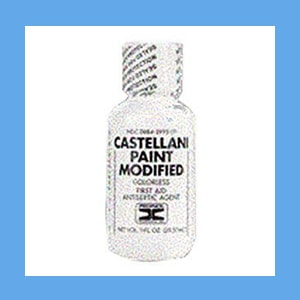 Castellani Paint Colorless antiseptic, drying agent, antifungal, Castellani Paint