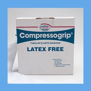 Compressogrip 4(F) elastic bandage, tubular, compression, latex free