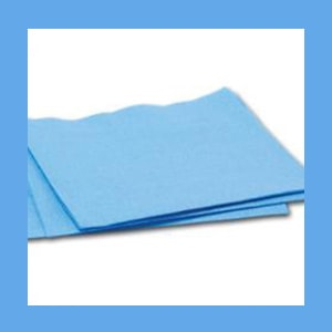 "BUSSE CSR Wraps - 12"" x 12"" Blue, 100/PKG.  wrapping fabric, CSR Wraps, strong, repellent"