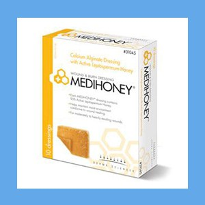 "Medihoney Calcium Alginate Wound Dressing, 2"" x 2"" wound dressing, calcium alginate, Medihoney"