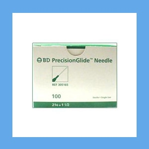 "BD Disposable Needles 21g x 1 1/2"" needles, disposable, stainless steel, BD"