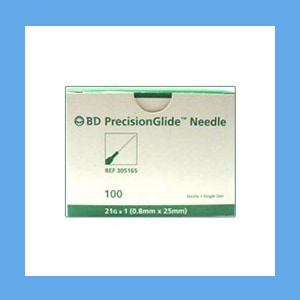 "BD Disposable Needles 21g x 1"" needles, disposable, stainless steel, BD"