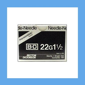 "BD Disposable Needles 22g x 1 1/2"" needles, disposable, stainless steel, BD"