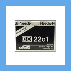 "BD Disposable Needles 22g x 1"" needles, disposable, stainless steel, BD"