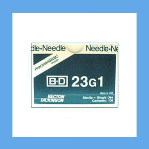 "BD Disposable Needles 23g x 1"" needles, disposable, stainless steel, BD"
