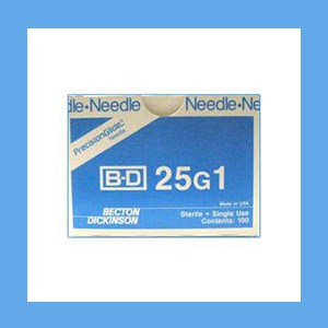 "BD Disposable Needles 25g x 1"" needles, disposable, stainless steel, BD"