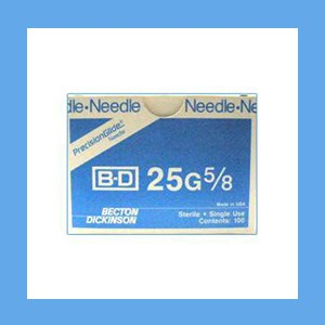 "BD Disposable Needles 25g x 5/8"" needles, disposable, stainless steel, BD"