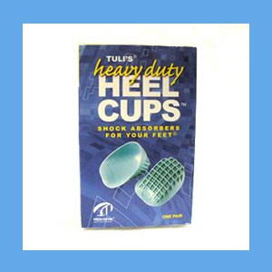 Tuli's Heavy Duty Green Heel Cups, Small (up to 80 lbs.) heel cups, Tuli's, green, heavy duty