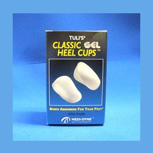 Tuli's Classic Gel Heel Cups, Regular (up to 175 lbs.) heel cups, gel, classic, Tuli's