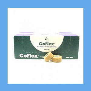 "CoFlex Bandage Tan 1""  latex, bandage, cohesive, light compression wrap"