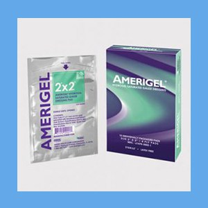 AmeriGel Hydrogel Saturated Gauze Dressing gauze dressing, saturated, AmeriGel, combat infection