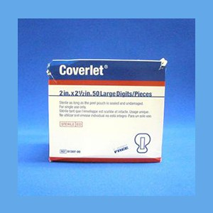 "Coverlet Adhesive Bandages, Large Digits 2"" x 2 1/2"" adhesive bandage, Coverlet, latex free"