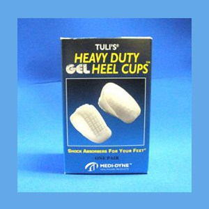 Tuli's Heavy Duty Gel Heel Cups, Large (over 175 lbs.) heel cups, gel, heavy duty, Tuli's