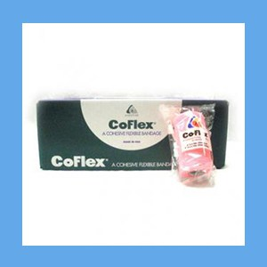 "CoFlex Bandage Assorted Color Pack 4"" latex, bandage, cohesive, light compression wrap"