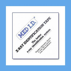"MED I.D. X-Ray Identification Tape 3"" Pre-Cut X-Ray I.D. Tape"