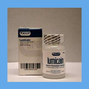 Lumicain Lumicain, colorless, control minor hemorrhages