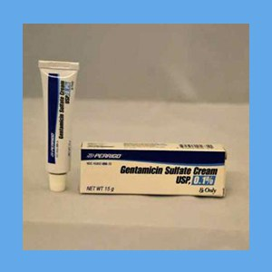 Gentamicin Cream 0.1% (15 gm.) cream, topical, Gentamicin Sulfate USP