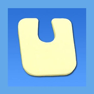 "Metatarsal U Pad #105 Adhesive Backed, Foam 1/8"" U Pad, metatarsal, adhesive backing"