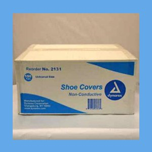 Dynarex Disposable Blue Shoe Cover - Universal Size, Non-Conductive 150 prs/Cs Dynarex Disposable Blue Shoe Cover - Universal Size, Non-Conductive 150 pr/Cs