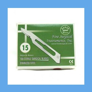 Stainless Steel Sterile Surgical Blades #15 blades, sterile, surgical, stainless steel, quality, value