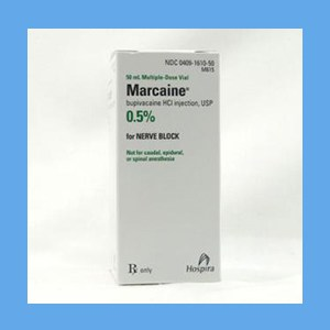 Marcaine .5% Plain 50ml Marcaine .5% Plain 50ml, local anesthetic