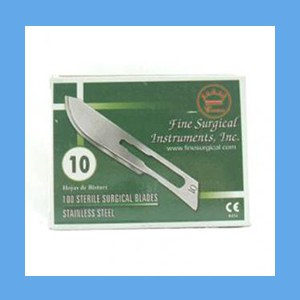Stainless Steel Sterile Surgical Blades #10 blades, sterile, surgical, stainless steel, quality, value
