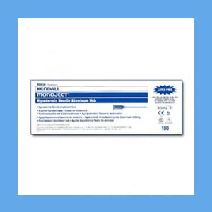 "Monoject Disposable Needles 27g x 1 1/4"", Aluminum Hub needles, disposable, Monoject"