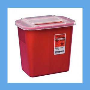 Kendall Sharps Container, 2 Gallon instrument disposal, sharps, kendall
