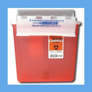 Covidien (Kendall) In-Room Sharps Disposal System, 5 Quart sharps disposal