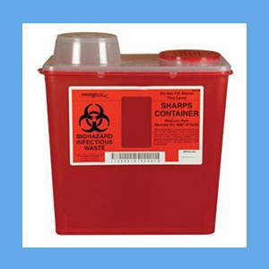 Monoject Sharps Collector, 8 Quart sharps collector