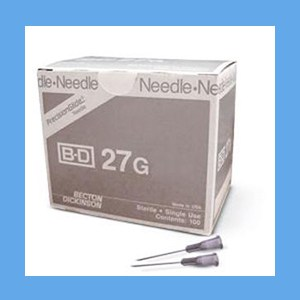 "BD Disposable Needles 27g x 1 1/2"" needles"