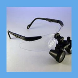 2.5x Loupe on Safety Frame