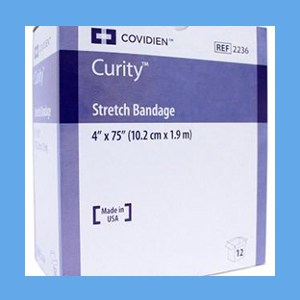 "Covidien Curity Stretch Bandage - 4"" Sterile Kendall, Gauze Bandage, cotton/poly blend, Sterile"