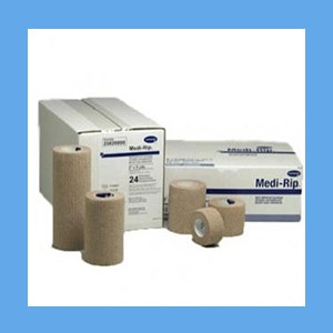 "Medi-Rip Self-Adherent Bandage 1"" cohesive bandage, rips, Medi-Rip, self-adherent"