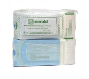 "Emerald Self Seal Sterilization Pouch, 2 1/4"" x 4"" sterilization pouches, self-sealing, triple sealed, emerald"