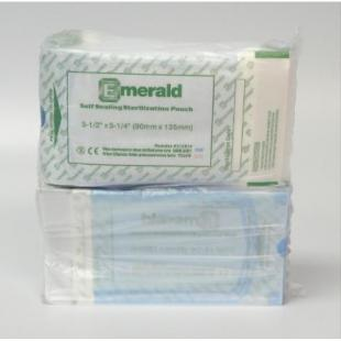 "Emerald Self Seal Sterilization Pouch, 5 1/4"" x 10"" sterilization pouches, self-sealing, triple sealed, emerald"