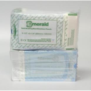 "Emerald Self Seal Sterilization Pouch, 3 1/2"" x 5 1/4"" sterilization pouches, self-sealing, triple sealed, emerald"