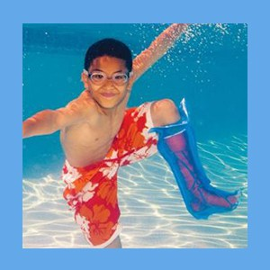 Seal-Tight Cast & Bandage Protector, Pediatric Large Leg water-tight enclosure, seal-tight protector, latex-free seal