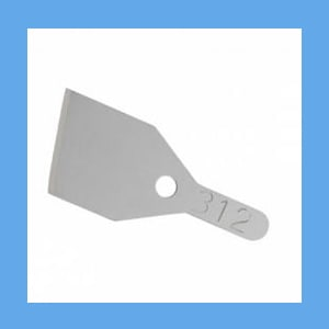 Physicians Choice #312 Non-Sterile Chisel Blade 12/pack OVERSTOCK 312, chisel blade, non-sterile