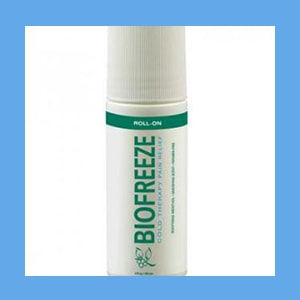 BIOFREEZE 3 oz. Roll-On analgesic, pain relief, reduce swelling, BIOFREEZE