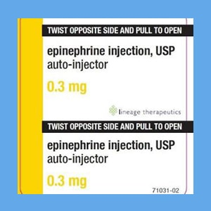 Epinephrine Auto-Inject Adult 0.3mg 2/Pk (compare to EpiPen Adult 2-Pack) EpiPen, auto-injector, epinephrine