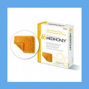 "Medihoney Calcium Alginate Wound Dressing 4"" x 5""  Medihoney Calcium Alginate Wound Dressing 4"" x 5"""