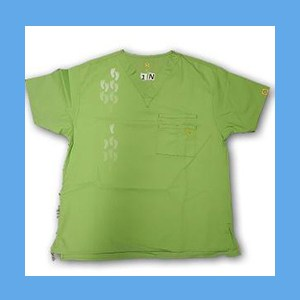 Wonder Wink Scrub Top Neo Matrix I Green Apple Unisex (MEDIUM) OVERSTOCK Scrubs Top Neo Matrix I Green Apple
