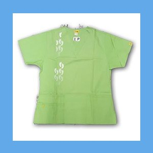 Wonder Wink Scrub Top Neo Matrix I Green Apple OVERSTOCK Scrubs Top Neo Matrix I Green Apple